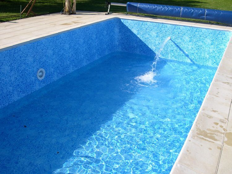 Liner piscine for Liner pour piscine beton